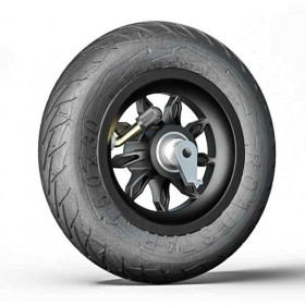 Roue de rechange 6x1/4 9SB-RS noire avec pneu Road Star + système anti-recul