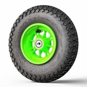 Roue complète 8 pouces (200 x 50 mm) avec jante verte et pneu Major Grip