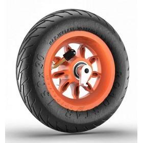 Roue complète 6 pouces 1/4 orange - jante 9SB RS et pneu Road Star avec anti recul