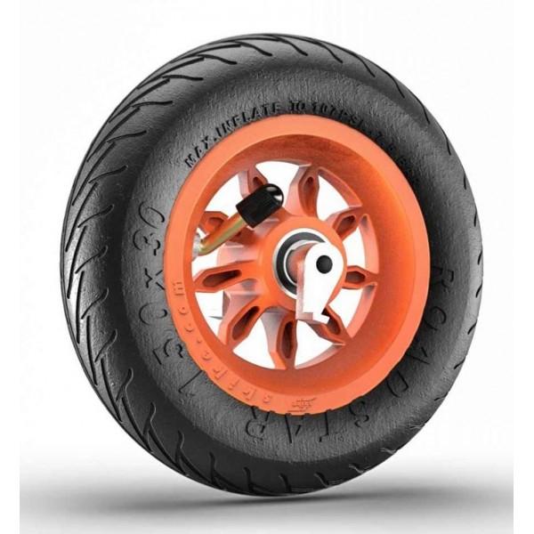 Roue complète 6 pouces 1/4 orange - jante 9SB RS et pneu Road Star